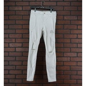 HOLLISTER High Rise Super Skinny Jeans White 29L